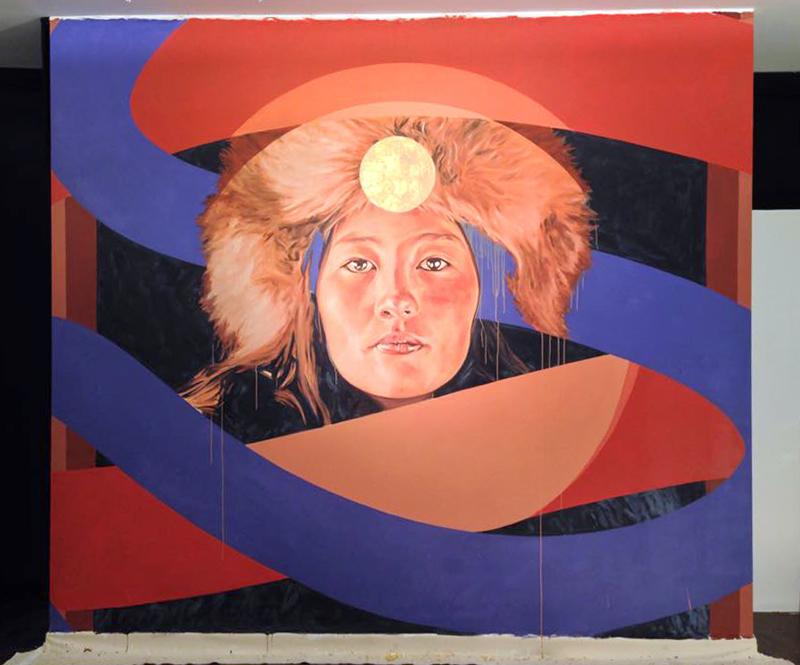 ledo mural mongolian nomad